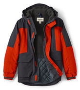 Lands' End Boys Husky Squall Parka-Atlas Yellow