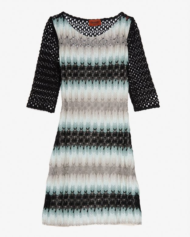 Missoni Open Knit 3/4 Sleeve Dress