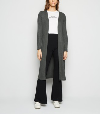 New Look Ribbed Fine Knit Long Cardigan