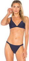 MinkPink Lucky Star Triangle Bikini Top in Navy. - size L (also in M,S,XS)