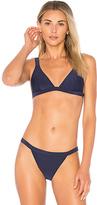 MinkPink Lucky Star Triangle Bikini Top in Navy
