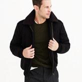 J.Crew Wallace & Barnes sherpa-collar wool bomber jacket