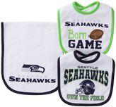 Baby Seattle Seahawks 3-Piece Bib & Burp Cloth Set