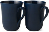 Royal Copenhagen Blue Fluted Pair of Mugs