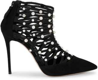 Casadei Embellished Leather Booties