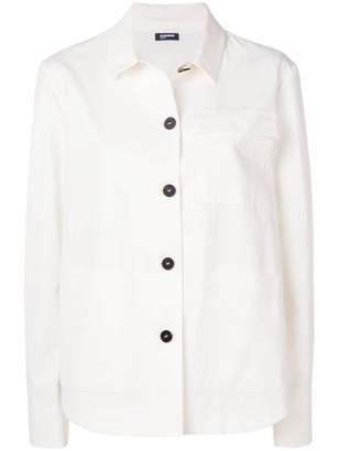 Jil Sander Navy denim overshirt jacket