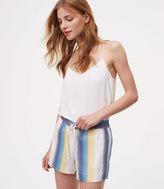 LOFT Ombre Drawstring Shorts
