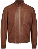 Corneliani Brown Leather Jacket