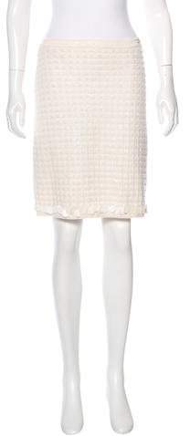 Chanel Wool & Cashmere-Blend Knit Skirt