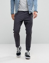 Dr Denim Diggler Tapered Chino With Turn Up