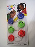 Goody Girls, Kids, Cute Rattle Ponytailers (Red- Green - Purple)