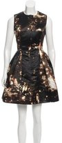 Cushnie et Ochs Printed Pleated Dress