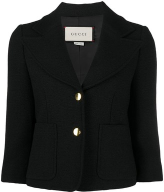 Gucci Three-Quarter-Length Sleeve Boucle Blazer