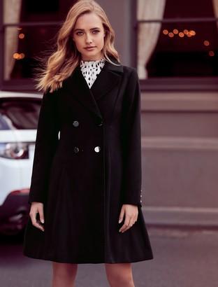 Forever New Paige Skirt Coat - Black - 4