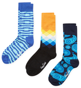 Happy Socks Diamond, Stripes and Paisley Socks (3 PK)