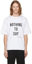 Pyer Moss White nothing To Say T-shirt