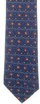 Hermes Leaf Print Silk Tie