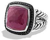 David Yurman Sterling Silver Split Shank Ruby & Black Diamonds Ring New Box R