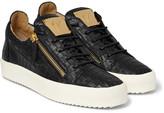 Giuseppe Zanotti - Croc-effect Leather Sneakers