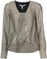 Derek Lam 10 Crosby Long sleeve drape front blouse