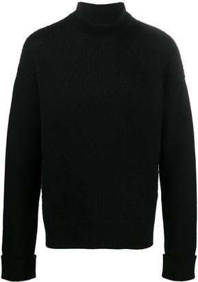 Neil Barrett Honeycomb-Knit Wool Jumper