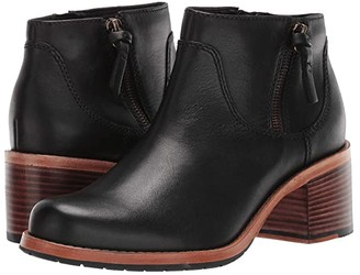 Clarks Clarkdale Dawn (Black Leather) Women's Boots