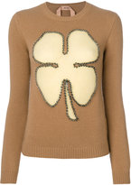 No.21 studded clover jumper