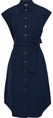 Derek Lam Belted Cutout Cotton-poplin Shirt Dress
