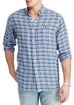 Polo Ralph Lauren Plaid Linen Long-Sleeve Woven Shirt