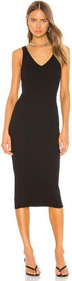 Enza Costa Rib Sweater Knit Tank Midi Dress