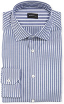 Ermenegildo Zegna Men's Oxford Stripe Cotton Dress Shirt