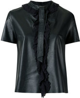 Talie Nk - lace up blouse - women - Leather - 34