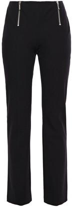 MICHAEL Michael Kors Zip-embellished Cotton-blend Twill Straight-leg Pants