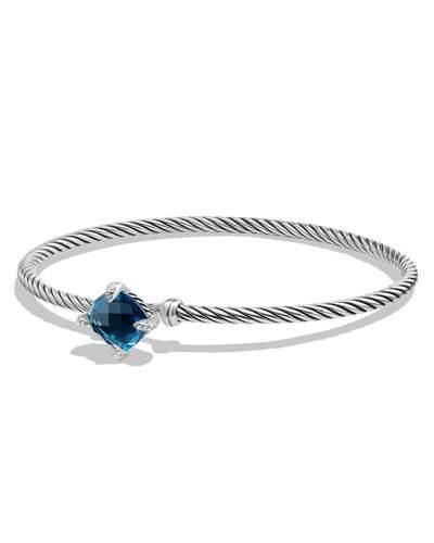 David Yurman 9mm Châtelaine Bracelet with Hampton Blue Topaz