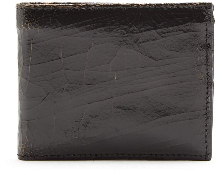 Marc Marmel Bi-fold cracked-leather wallet