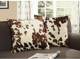 HomeSullivan Polyester Cowhide Print Toss Pillow (Set of 2)