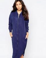 NATIVE YOUTH Longline Zip Bomber Dress