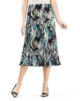 Web Print Plisse Panelled Skirt Length 27in