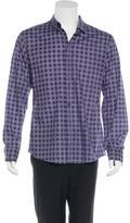 Bottega Veneta Grid Pattern Woven Shirt