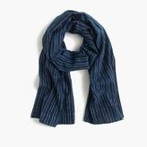 J.Crew Lightweight indigo-dyed cotton scarf in stripe