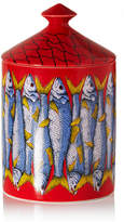 Fornasetti Sardine Scented Candle, 300g - Red