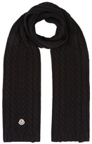 Moncler Wool Cable-Knit Scarf