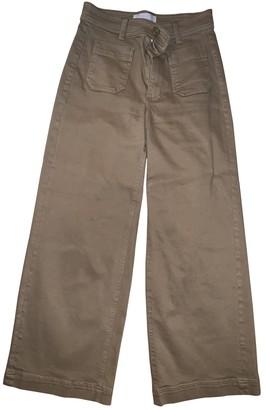 Everlane Khaki Cotton - elasthane Jeans for Women