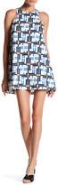 J.o.a. Printed Sleeveless Shift Dress