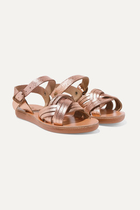 Ancient Greek Sandals Kids Size 23 - 34 Little Electra Metallic Leather Sandals