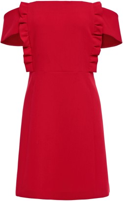 BA&SH Off-the-shoulder Ruffled Crepe Mini Dress