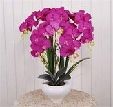 Artificial Flower Mesmj Mesmj Artificial Flowers Ceramic Vases Home Ornaments Decorated flowers,Purple Orchid