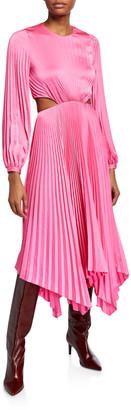 A.L.C. Naples Pleated Cutout Handkerchief Dress