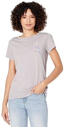 RVCA Neon Parrot Short Sleeve Tee (Crystal Lilac) Women's Clothing