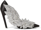 Balenciaga Sequin-embellished Satin Pumps - Black